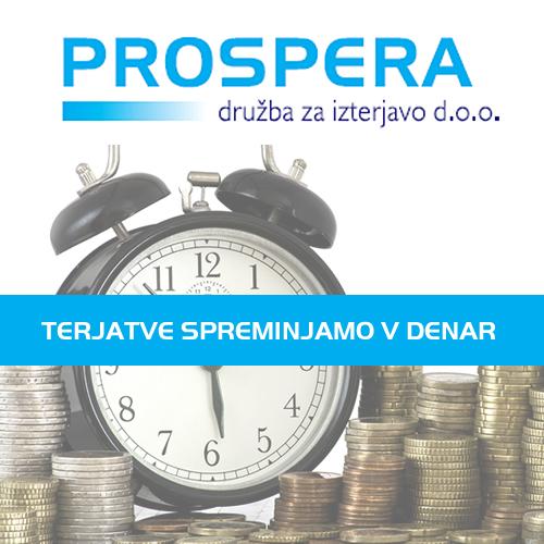 Prospera d.o.o. – brezplačno svetovanje o izterjavi terjatev za člane